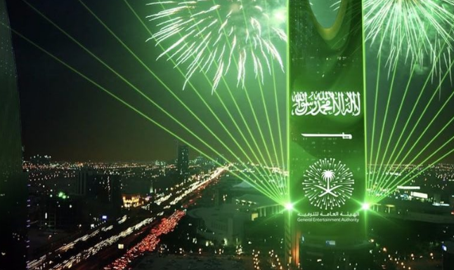 أماكن احتفالات اليوم الوطني السعودي 91 في العاصمة السعودية الرياض