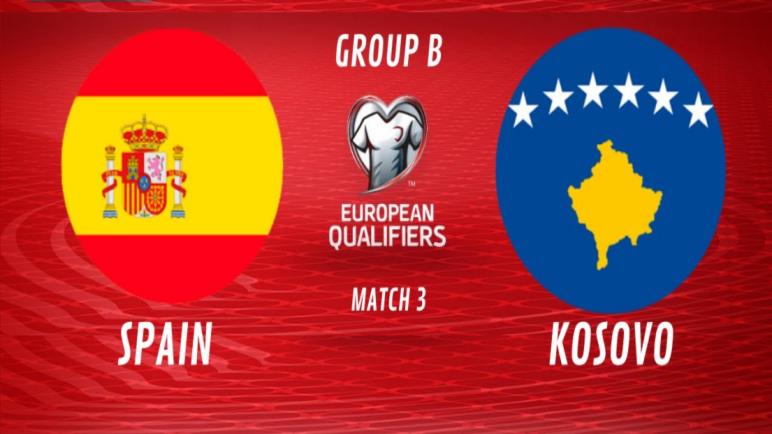 توقيت مباراة إسبانيا وكوسوفو في تصفيات كأس العالم 2022 والقنوات الناقلة