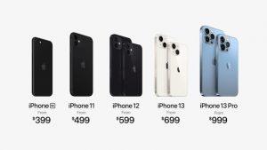 أسعار أجهزة الايفون السابقة
