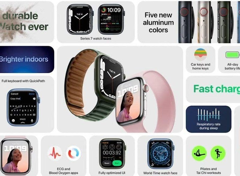 رسمياً ابل تكشف عن الساعة الذكية Apple Whatch Series 7 2021